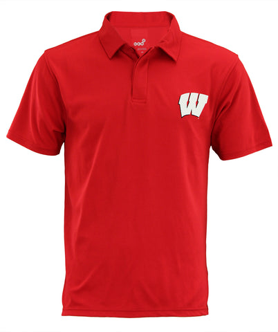 NCAA Men's Wisconsin Badgers Short Sleeve Performance Polo Shirt