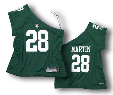 Reebok NFL Women's New York Jets Curtis Martin #28 One Shoulder Jersey