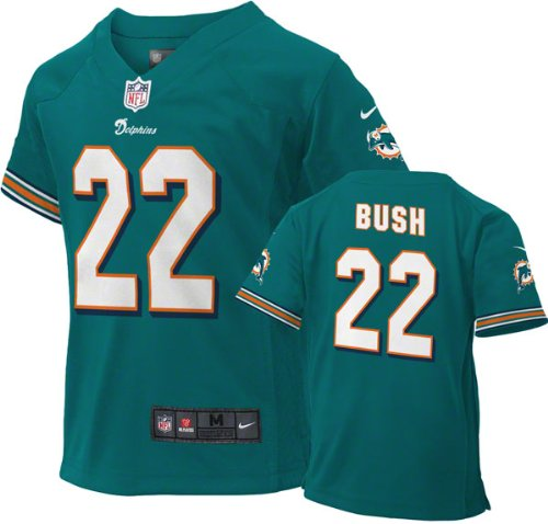 separation shoes 89e67 9c20d Nike NFL Football Kids Youth Miami Dolphins Reggie Bush #22 Game Jersey