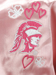 NCAA College Baby Girls Southern California Trojans Varsity Cheer Jacket - Pink
