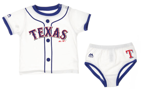 Outerstuff MLB Infants Texas Rangers 2 Piece Windsuit Jacket and Pant Set