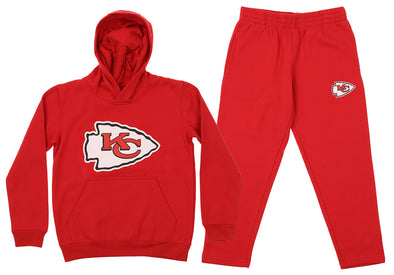 Outerstuff NFL Youth Kansas City Chiefs Team Fleece Hoodie and Pant Set