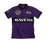 FOCO NFL Men's Baltimore Ravens Wordmark Rugby Short Sleeve Polo Shirt