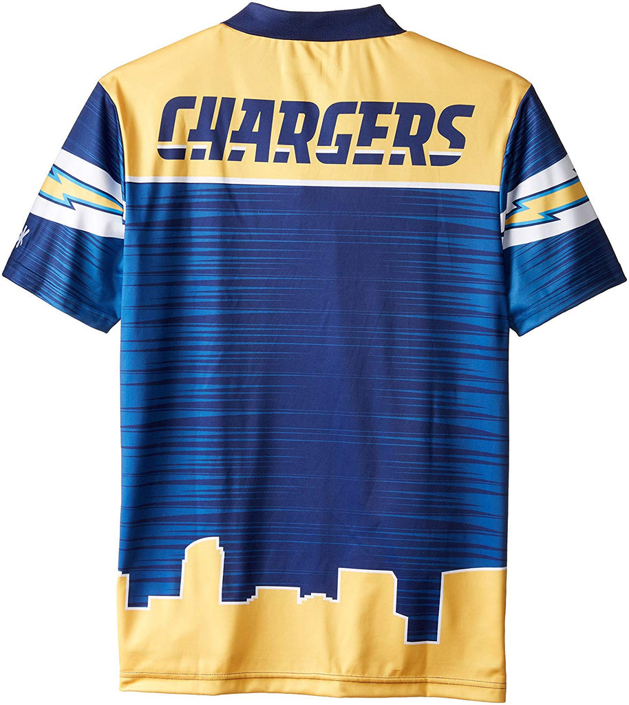 3865ded31 Forever Collectibles NFL Men s San Diego Chargers Thematic Polo Shirt