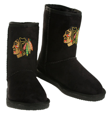 Cuce Shoes NHL Women's Chicago Blackhawks The Ultimate Fan Boots Boot - Black