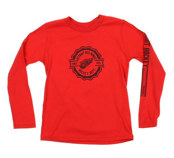 Reebok NHL Youth Detroit Red Wings Long Sleeve Icon Tee