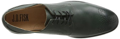 JD Fisk Men's Gilby Oxford Lace Up Fashion Shoes, Dark Green