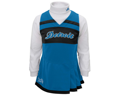 Outerstuff NFL Infant Girls Detroit Lions Cheer Jumper Dress