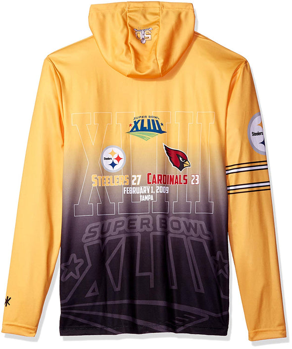 Forever Collectibles NFL Men's Pittsburgh Steelers Super Bowl Champions Hooded Tee