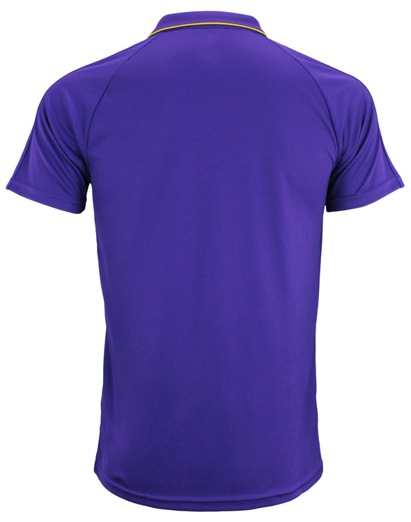 adidas MLS Men's Orlando City SC Climalite 3-Stripe Coaches Polo, Purple