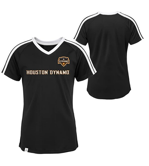 Adidas MLS Youth Girls (7-16) Houston Dynamo Short Sleeve Club Top