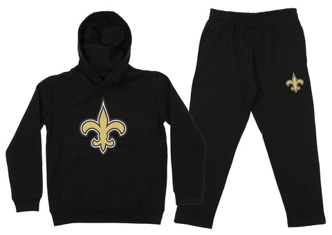 Outerstuff NFL Youth New Orleans Saints Team Fleece Hoodie and Pant Set