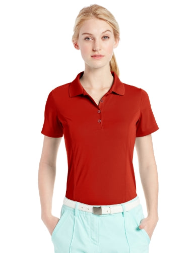 Adidas Women's Puremotion Solid Golf Button Up Short Sleeve Jersey Polo, Several Colors