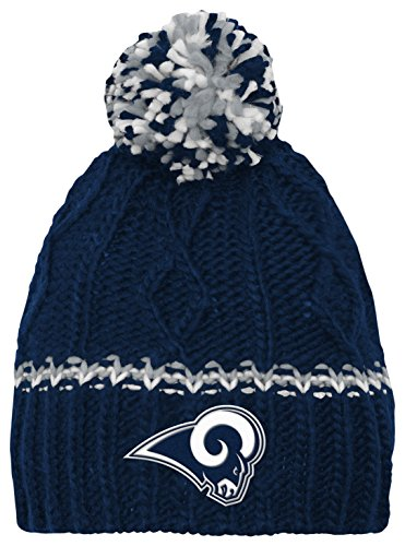 Outerstuff NFL Youth Girls (7-16) Los Angeles Rams Cable Knit Rib Cuffless Hat