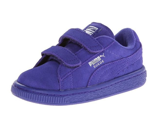Puma Suede Classic 2-Strap Toddler/Little Kid/Big Kid Velcro Sneakers Shoes  -