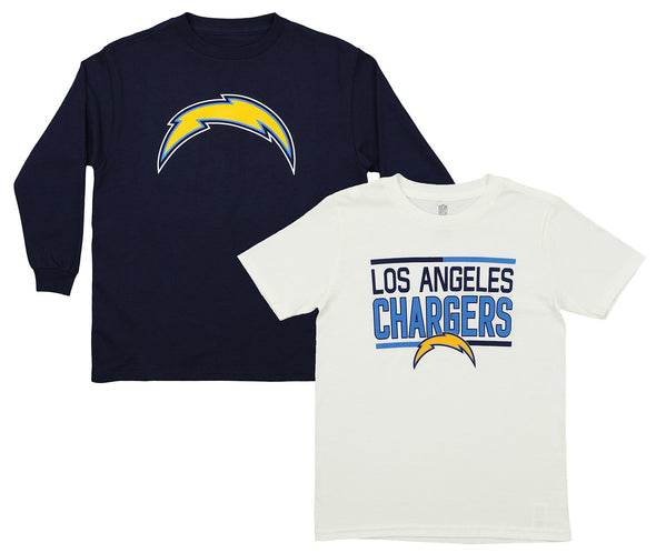 Outerstuff NFL Youth Los Angeles Chargers Tee Shirt Combo