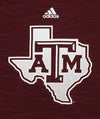 Adidas NCAA Men's Texas A&M Aggies Long Sleeve Training Hoodie