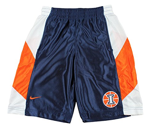 Nike NCAA Youth Boys Illinois Fighting Illini Basketball Tourney Shorts, Navy