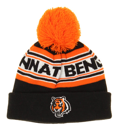 OuterStuff NFL Little Boys Cincinnati Bengals Jacquard Cuffed Knit Hat OSFM