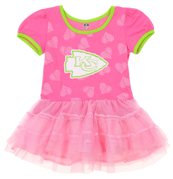 "NFL CHIEFS Toddlers ""PINK LOVE TO DANCE"" TUTU DRES"