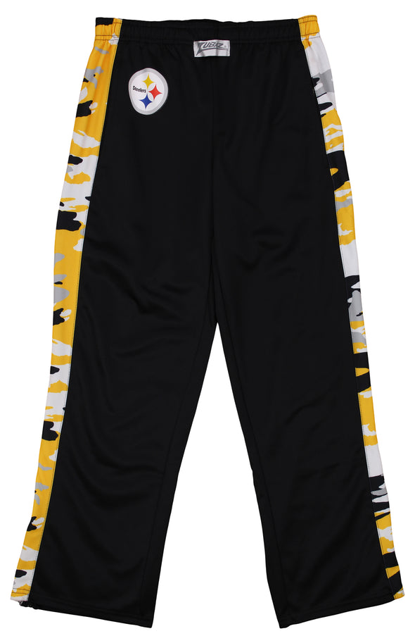 Zubaz Men's NFL Pittsburgh Steelers Camo Print Stadium Pants