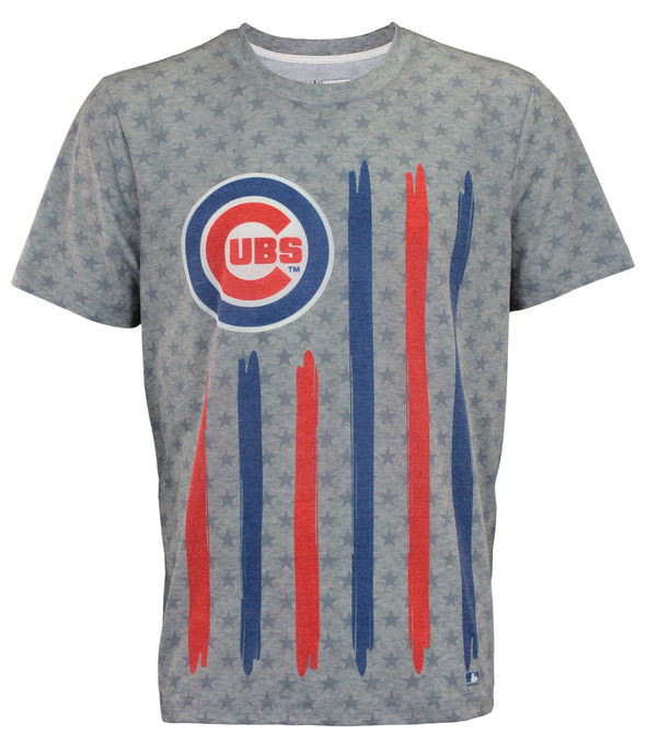 Forever Collectibles MLB Men's Chicago Cubs Big Logo Flag Tee