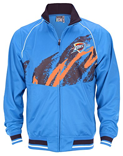 Zipway NBA Men's Oklahoma City Thunder Splash Ruler Zip Up Track Jacket, Blue