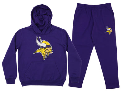 Outerstuff NFL Youth Minnesota Vikings Team Fleece Hoodie and Pant Set