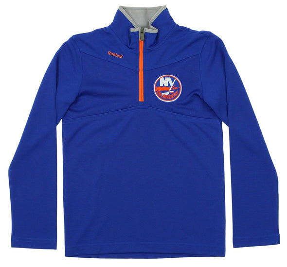 Reebok NHL Youth New York Islanders Center Ice 1/4 Zip Up Sweater