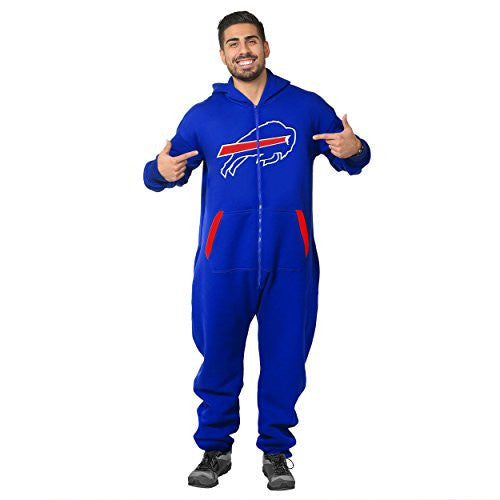 Forever Collectibles NFL Unisex Buffalo Bills Logo Jumpsuit, Blue