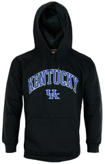Genuine Stuff NCAA Men's University of Kentucky Wildcats Fleece Hoodie - Black