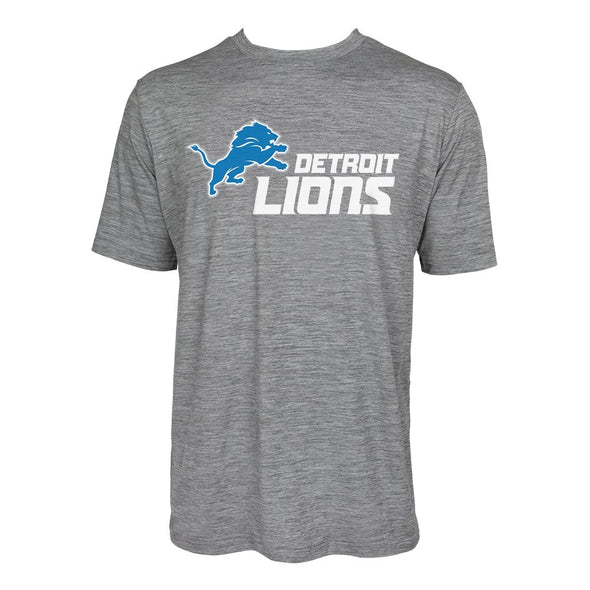 Zubaz NFL Men's Detroit Lions Team Name and Logo Wordmark Tee