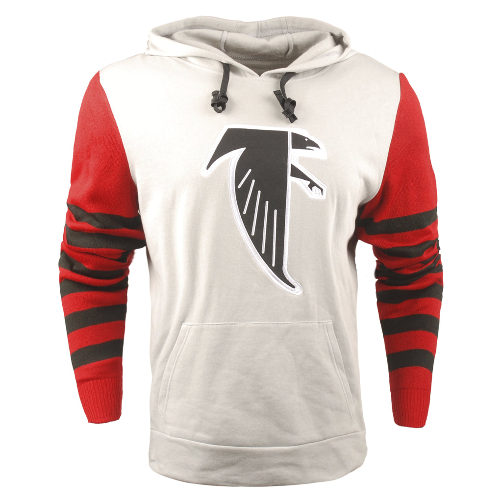 finest selection c9d17 afe59 FOCO NFL Men's Atlanta Falcons Retro Knit Sleeve Hooded Sweater