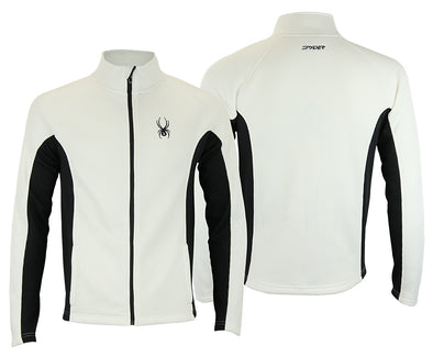 Spyder Men's Constant Full Zip Sweater, White / Black