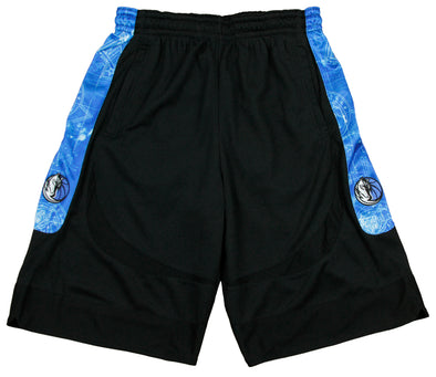 Zipway NBA Basketball Men's Dallas Mavericks Blueprint Shorts, Black