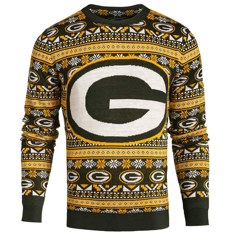 1f0353127 Forever Collectibles NFL Men s Green Bay Packers Aztec Print Ugly Sweater