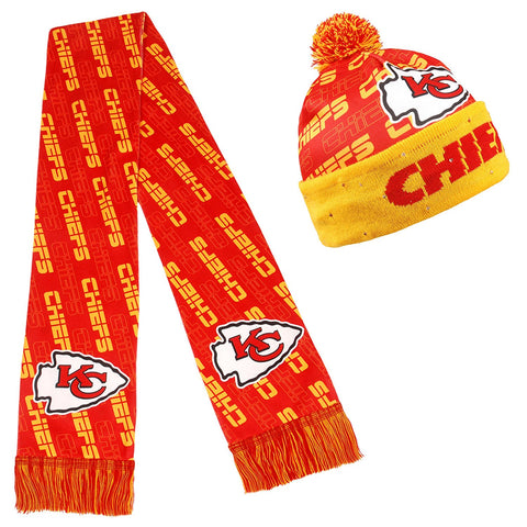 Forever Collectibles NFL Adult's Kansas City Chiefs Light Up Beanie And Scarf Set