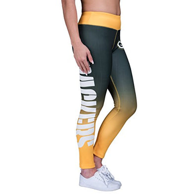 Forever Collectibles NFL Women's Gradient Green Bay Packers 2.0 Wordmark Legging