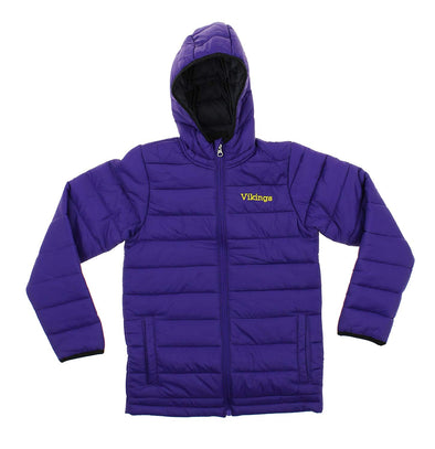 Outerstuff NFL Youth Minnesota Vikings Solid Packaway Puffer Jacket