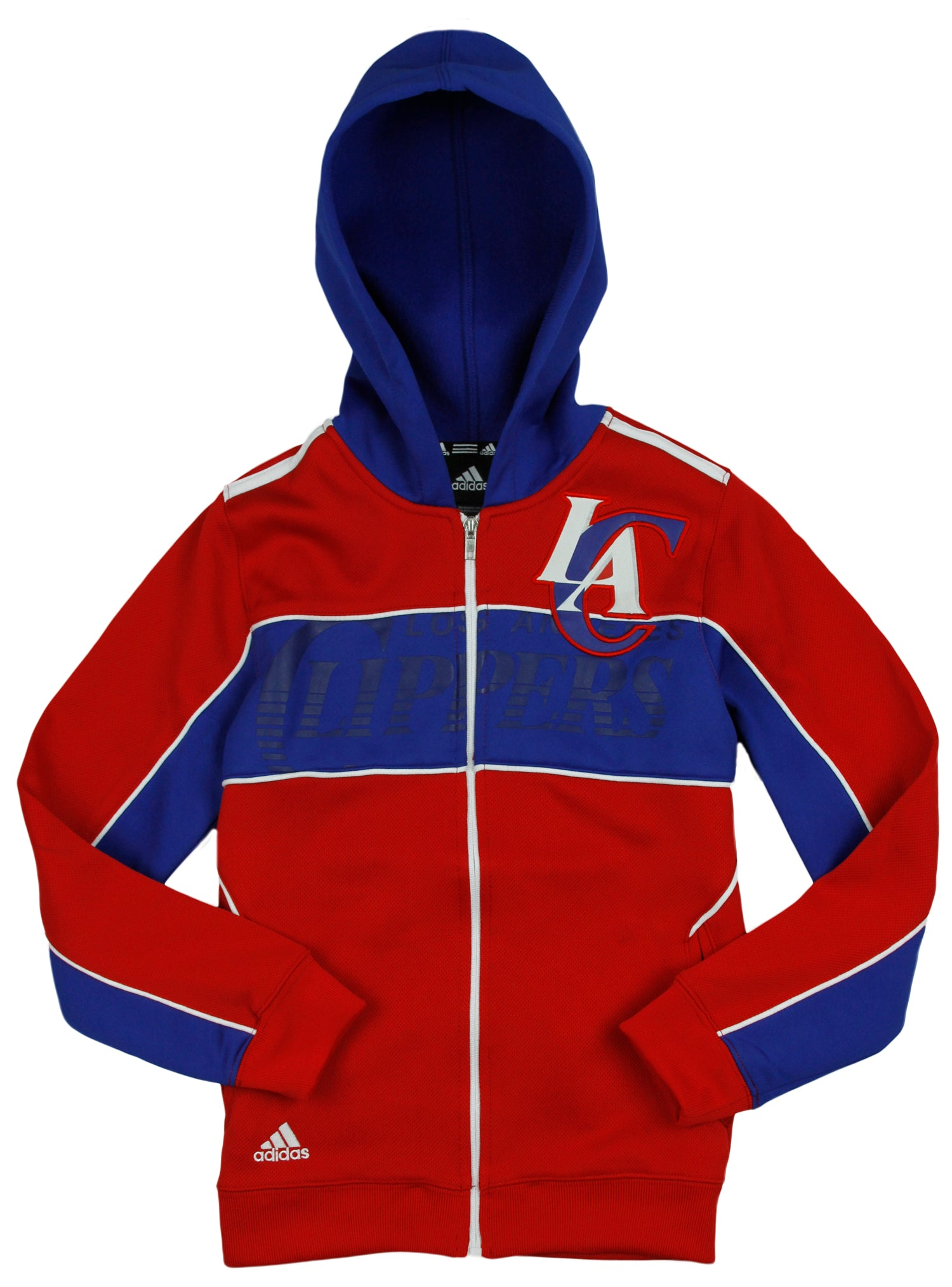 Adidas NBA Youth Los Angeles Clippers Pregame Full Zip Hoodie