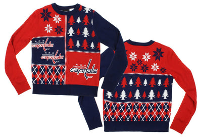 NHL Youth Washington Capitals Holiday Ugly Sweater, Red / Blue