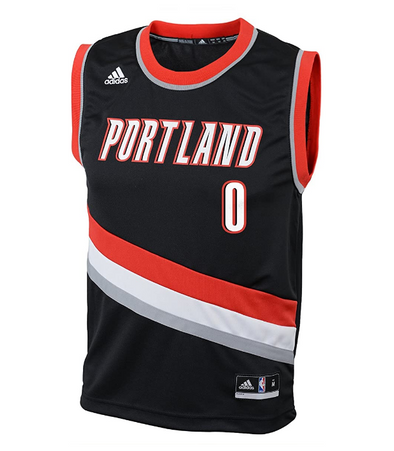 Adida NBA Toddlers Portland Trail Blazers Damian Lillard #0 Away Replica Jersey