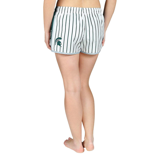 Forever Collectibles NCAA Women's Michigan State Spartans Pinstripe Shorts
