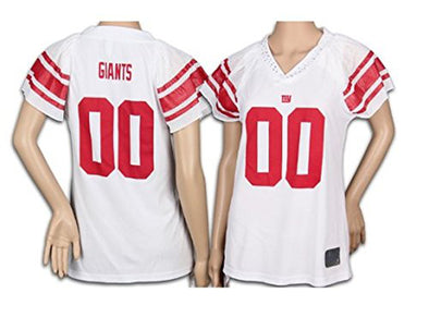 New York Giants NFL Womens Reebok Team Field Flirt Fashion Jersey, White