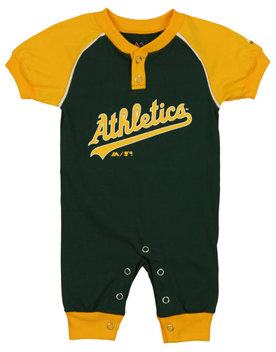 "Majestic MLB Infant Oakland Athletics ""Game Time"" Coverall"
