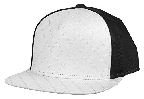 Flat Fitty Wiz Khalifa Quilted Cap Hat, White and Black