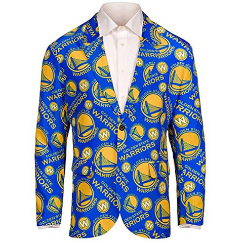 Forever Collectables NBA Men's Golden State Warriors Ugly Business Jacket, Blue