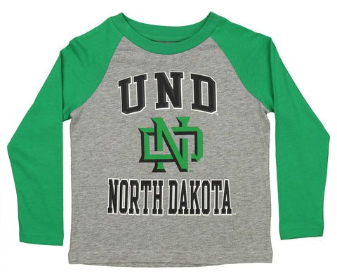 Outerstuff NCAA Kids North Dakota Fighting Hawks Constant Long Sleeve Raglan Tee