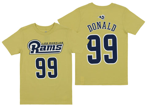 Outerstuff NFL Youth Los Angeles Rams Aaron Donald #99 Player Tee