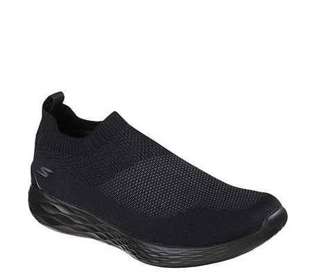 Skechers Men's Go Strike Slip On Running Shoes, Black
